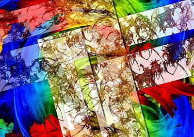Colors Digital Art - Artistic Geometry In Digital Art by Mario Perez