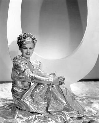 Gold Lame Photograph - Artists And Models Abroad, Joan Bennett by Everett