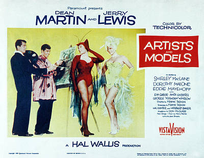 Artists And Models, Dean Martin, Jerry Print by Everett