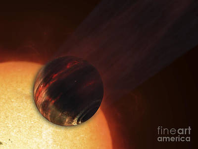 Rendition Digital Art - Artists Concept Of A Hot Jupiter by Fahad Sulehria
