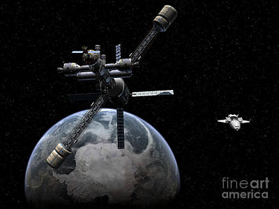 Rendition Digital Art - Artists Concept Of A Lunar Cycler by Walter Myers