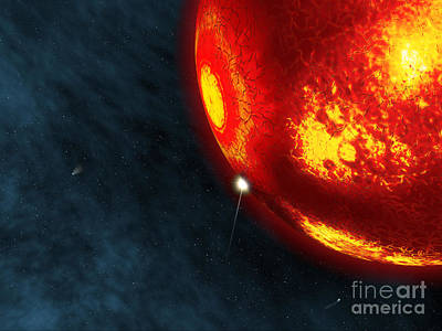 Collision Of Worlds Digital Art - Artists Concept Of An Early Earth by Walter Myers
