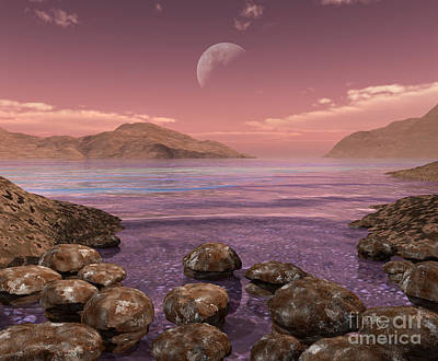 Artists Concept Of Archean Print by Walter Myers