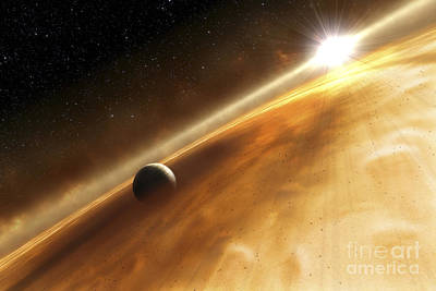 Rendition Digital Art - Artists Concept Of The Star Fomalhaut by Stocktrek Images