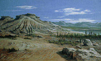 Triassic Photograph - Artist's Impression Of Triassic Period Landscape. by Ludek Pesek