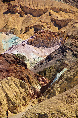 Artist's Palette At Death Valley Print by Levin Rodriguez