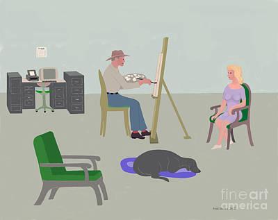 Artists Studio Original by Fred Jinkins