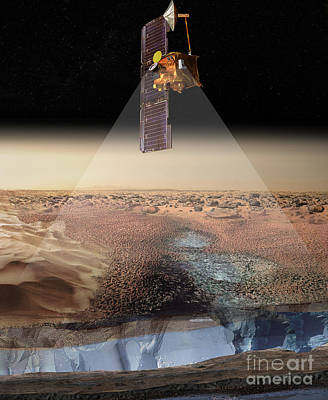 Analyze Digital Art - Artists View Of Odyssey Detecting Ice by Stocktrek Images