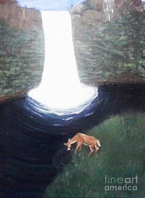 As The Deer Panteth For The Water Print by Patty  Thomas