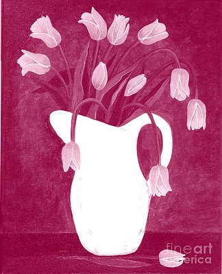 A Dozen Roses Painting - Ashes Of Roses Tulips by Barbara Griffin