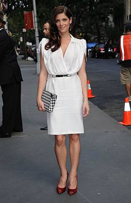 Belted Dress Photograph - Ashley Greene Wearing A Salvatore by Everett