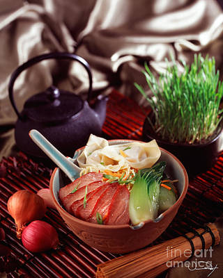 Asian Duck Noodle Soup Print by Vance Fox
