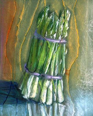 Asparagus Mixed Media - Asparagus by Susan Avishai