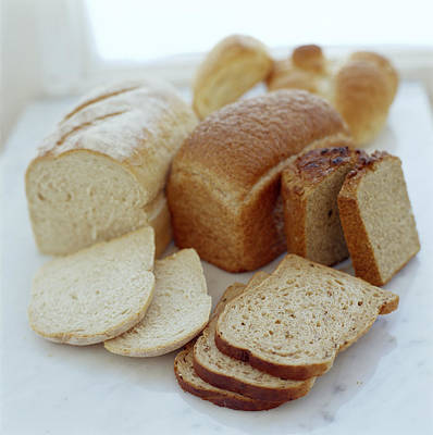Assorted Breads Print by David Munns