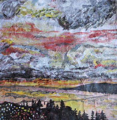 Astoria Megler Bridge Sunset Print by Rachel Biddlecome
