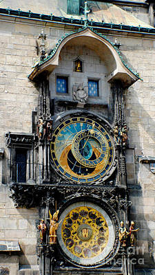 Astronomical Clock Print by Pravine Chester
