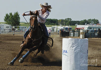 Barrel Racing Photograph - At Full Speed by Bob Christopher