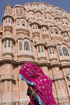 At Hawa Mahal City Palace, Jaipurs Most Print by Axiom Photographic