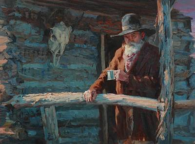 At Home On The Range Print by Jim Clements