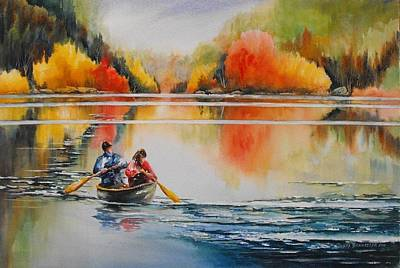 Bannister Painting - At Peace In Algonquin by Debra  Bannister