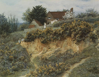 At Sandhills Witley Print by Helen Allingham