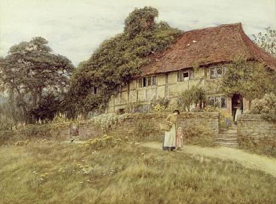 At Stedham Near Midhurst Print by Helen Allingham
