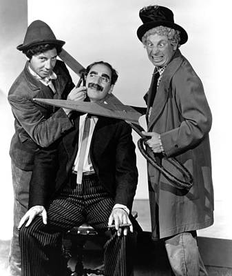 Groucho Marx Photograph - At The Circus, From Left Chico Marx by Everett