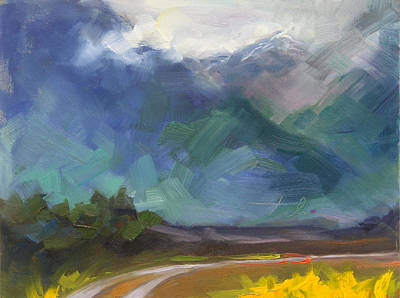 Inclement Painting - At The Feet Of Giants by Talya Johnson