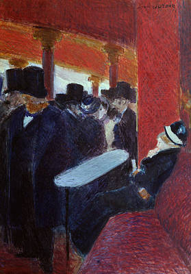 At The Folies Bergeres Print by Jean Louis Forain