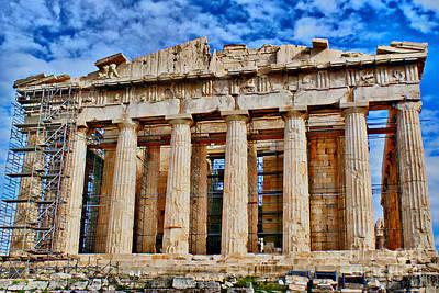 Athens - Parthenon Print by Hristo Hristov