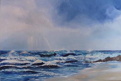 Atlantic Waves Print by Margaret Denholm