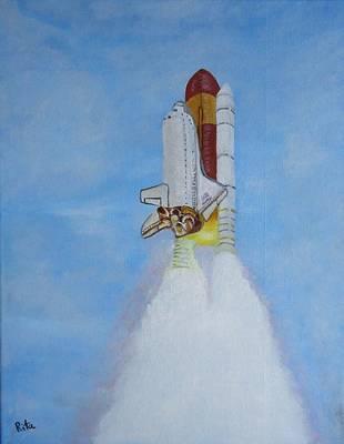 Atlantis Painting - Atlantis Final Launch by Rita Tortorelli