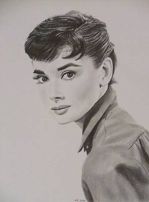 Audrey Hepburn Drawing - Audrey by Mike OConnell