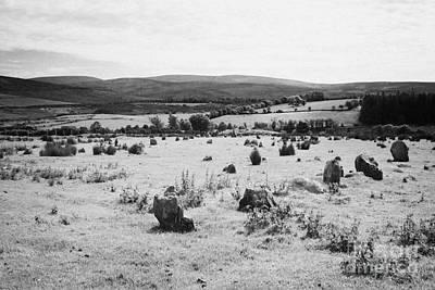Megalith Photograph - Aughlish Stone Circles County Derry Londonderry Northern Ireland by Joe Fox