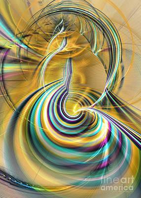 Aurora Of Yellowness Print by Sipo Liimatainen