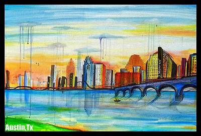 Dr. J Painting - Austin Texas by Jose J Montee Montejano