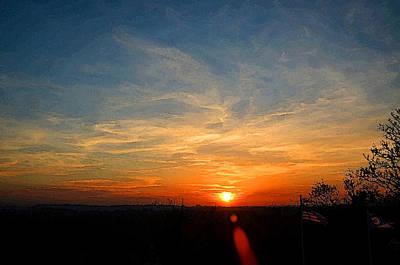 Autum Sunset Print by Michael Austin