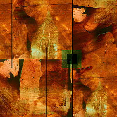 Abstract Collage Mixed Media - Autumn Abstracton by Ann Powell