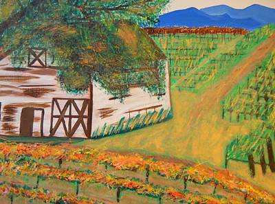 Autumn Barn Print by Kathleen Fitzpatrick
