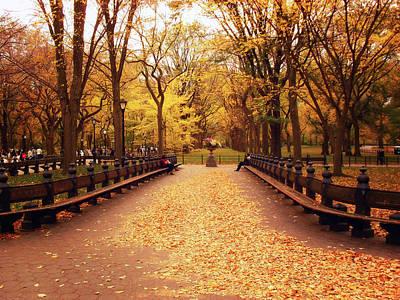Autumn - Central Park - New York City Print by Vivienne Gucwa