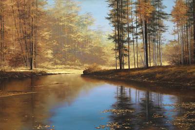 Autumn Landscape Painting - Autumn Creek by Diane Romanello