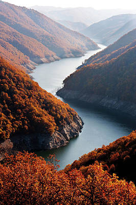 Autumn Creek Print by Mavroudakis Fotis Photography