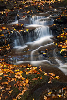 Pa State Parks Photograph - Autumn Falls - 71 by Paul W Faust -  Impressions of Light