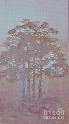 Folkartanna Painting - Autumn Fog by Anna Folkartanna Maciejewska-Dyba