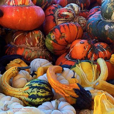 Autumn Harvest Print by Carol Cavalaris