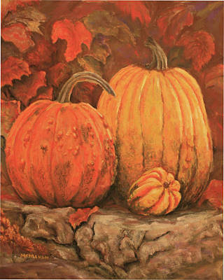 Autumn Harvest Print by Peggy McMahan