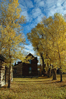 Autumn In Montana's Nevada City Print by Bruce Gourley
