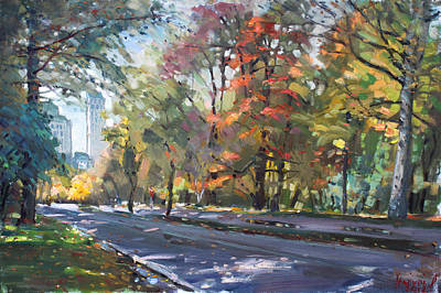 Autumn Landscape Painting - Autumn In Niagara Falls Park by Ylli Haruni