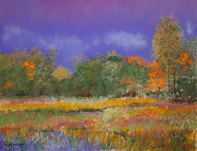 Autumn In Nisqually Print by David Patterson