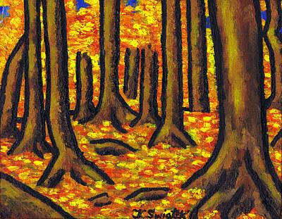 Polish Painters Painting - Autumn In Oakville by Kamil Swiatek